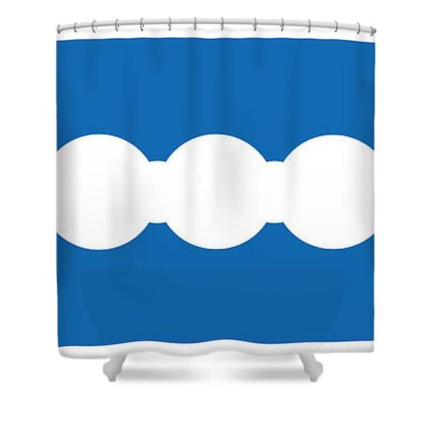 Ocean Blue Abstract Shower Curtain by Frank Tschakert