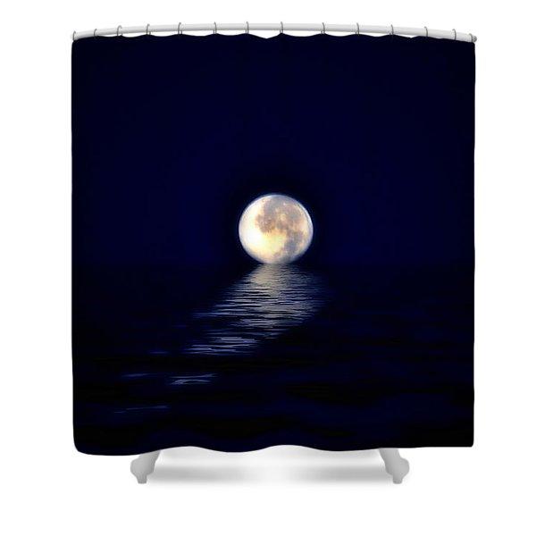Ocean Moon Shower Curtain by Bill Cannon