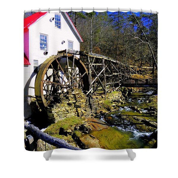 Old 1886 Mill Shower Curtain by KAREN WILES
