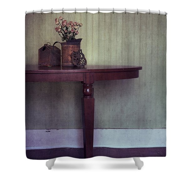 old and rusty Shower Curtain by Priska Wettstein