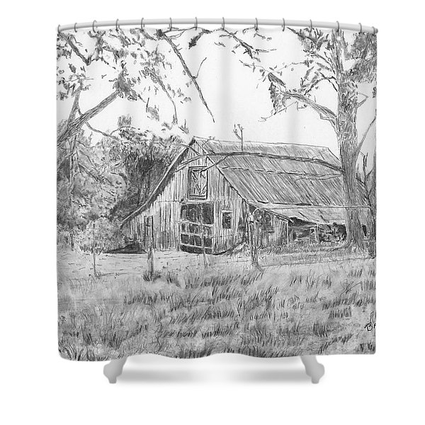 Old Barn 2 Shower Curtain by Barry Jones
