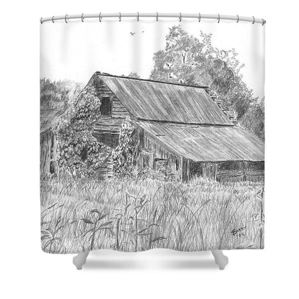 Old Barn 4 Shower Curtain by Barry Jones