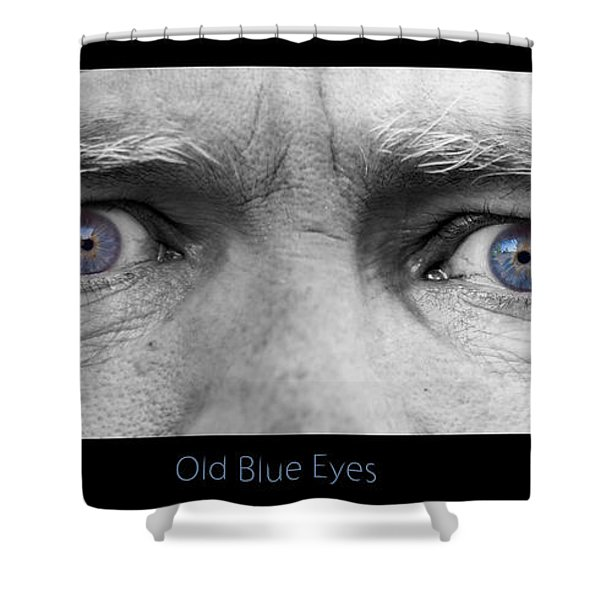 Old Blue Eyes Poster Print Shower Curtain by James BO  Insogna