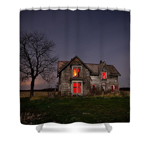 Old Farm House Shower Curtain by Cale Best