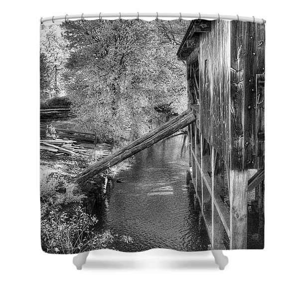 Old Grist Mill Shower Curtain by Joann Vitali