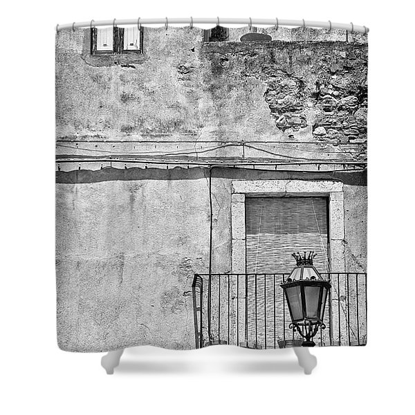 Old house in Taormina Sicily Shower Curtain by Silvia Ganora