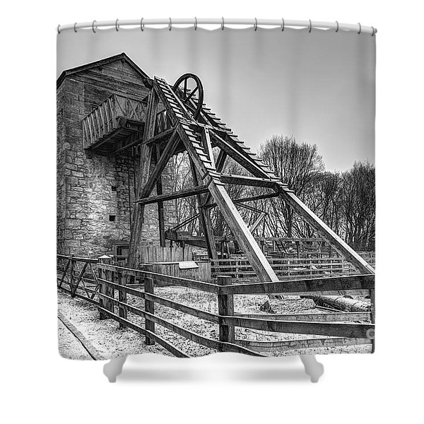 Old Mine Shower Curtain by Adrian Evans