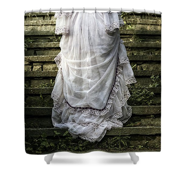 Old Stone Stairs Shower Curtain by Joana Kruse