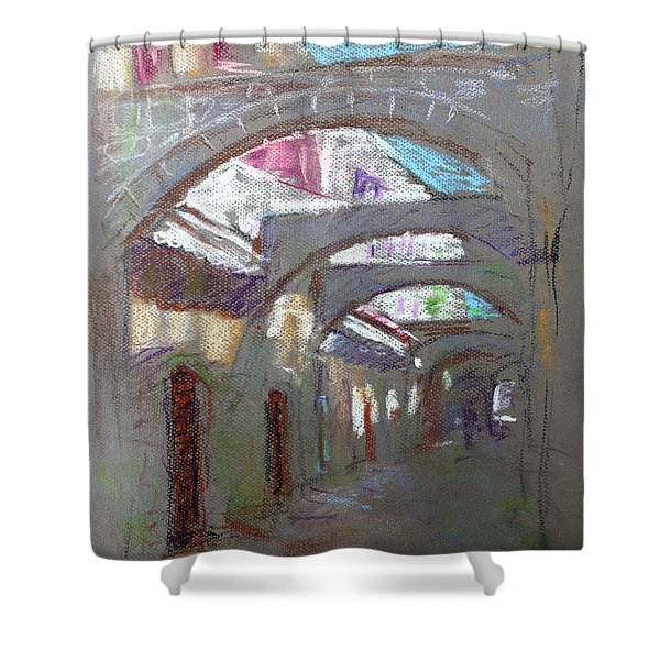 Old Town in Rhodes  Greece Shower Curtain by Ylli Haruni