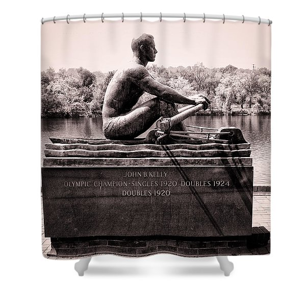Olympic Champion - John B Kelly Shower Curtain by Bill Cannon