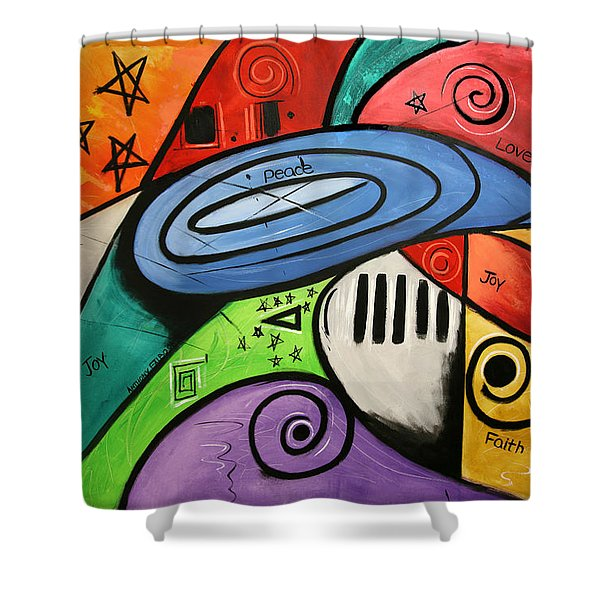On Earth As It Is In Heaven Shower Curtain by Anthony Falbo