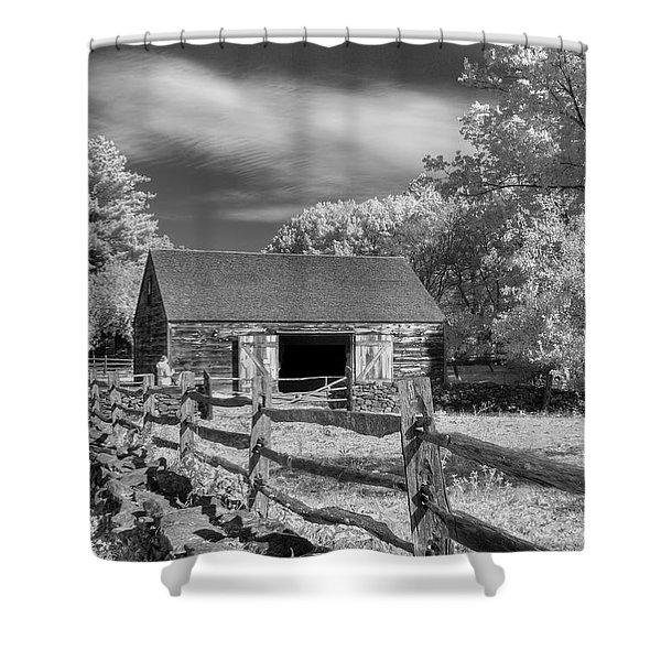 On The Farm Shower Curtain by Joann Vitali