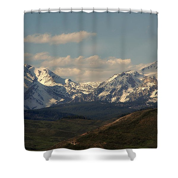 On the way to Jacksonhole WY Shower Curtain by Susanne Van Hulst