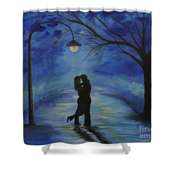 One Love One Lifetime Shower Curtain by Leslie Allen
