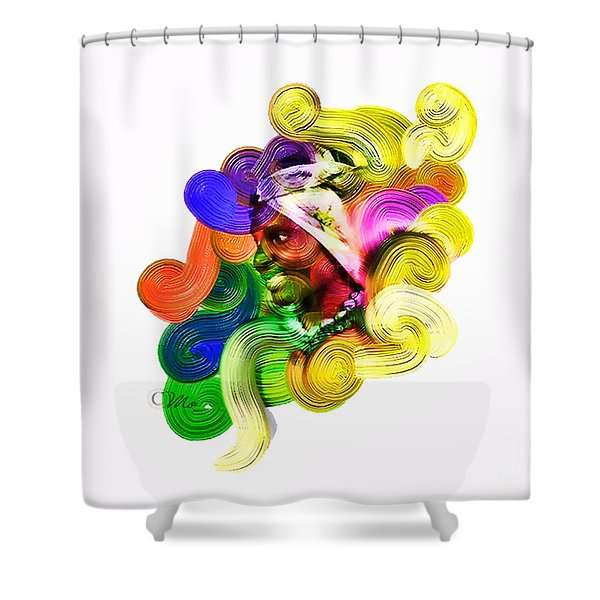 One Part 2 Shower Curtain by Mo T