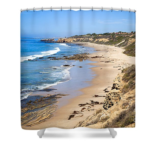 Orange County California Shower Curtain by Paul Velgos