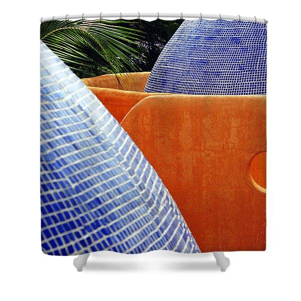 Orange Crush 3 Shower Curtain by Skip Hunt