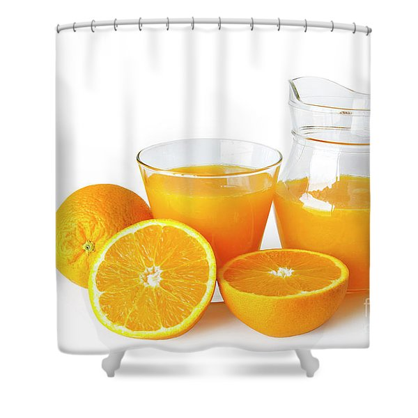 Orange Juice Shower Curtain by Carlos Caetano