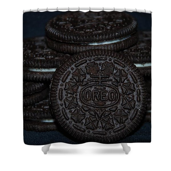 Oreo Cookies Shower Curtain by Rob Hans