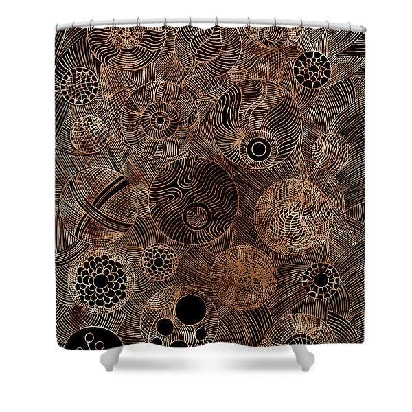 Organic Forms Shower Curtain by Frank Tschakert