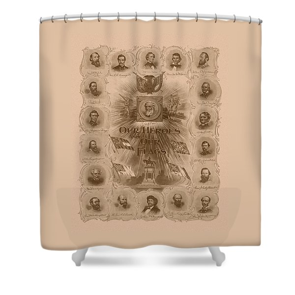 Our Heroes and Our Flags Shower Curtain by War Is Hell Store