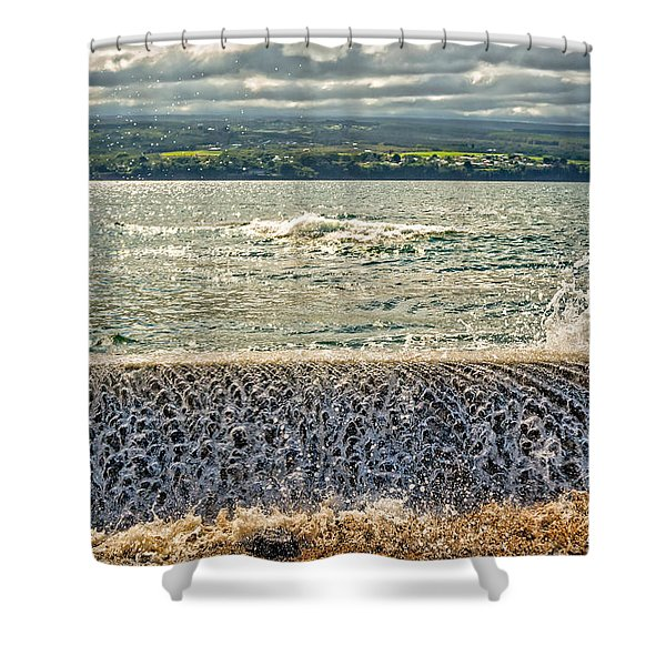 Over The Wall Shower Curtain by Christopher Holmes