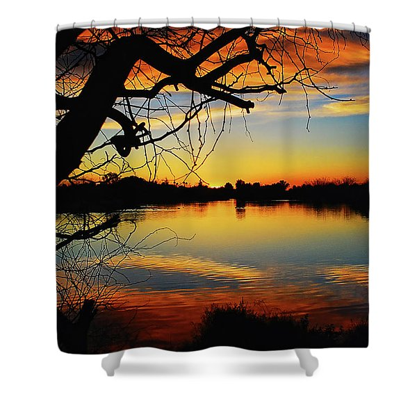 Paint The Sky Shower Curtain by Saija  Lehtonen