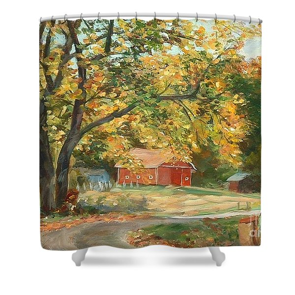 Painting The Fall Colors Shower Curtain by Claire Gagnon