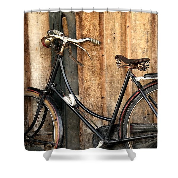 Parked Shower Curtain by Charuhas Images
