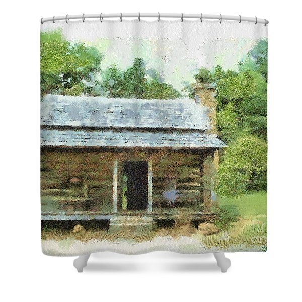 Parkway Cabin Shower Curtain by Paulette B Wright