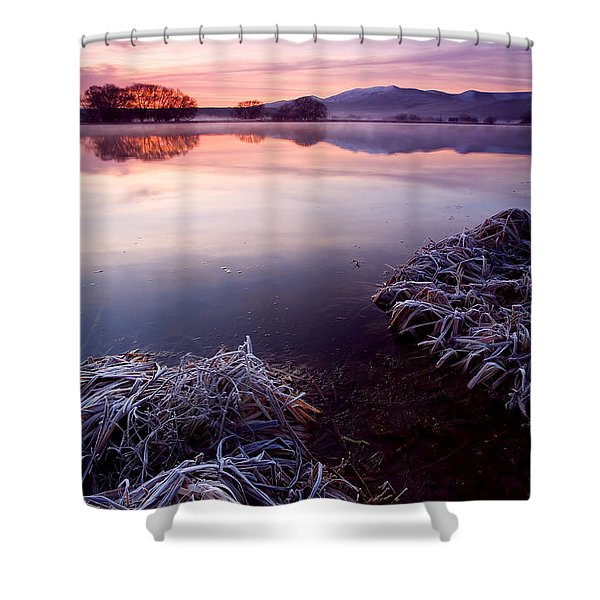 Pastel Dawn Shower Curtain by Mike  Dawson