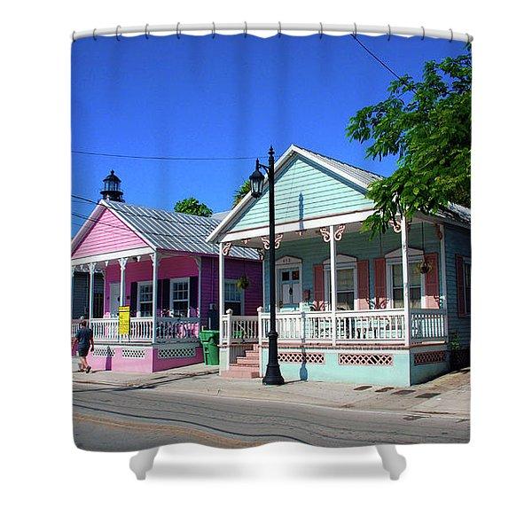 Pastels Of Key West Shower Curtain by Susanne Van Hulst