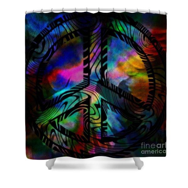 Peace #1 Shower Curtain by WBK