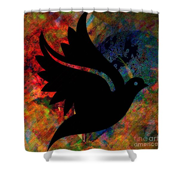 Peace #12 Shower Curtain by WBK