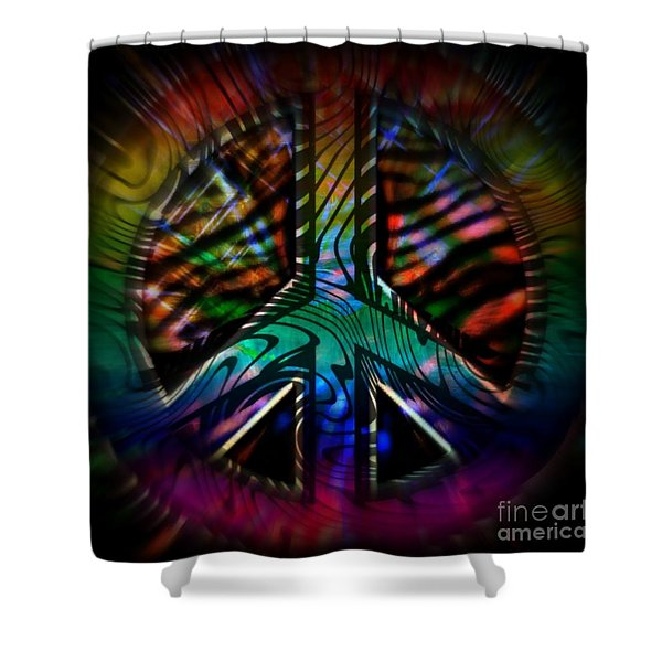 Peace Series #2 Shower Curtain by WBK