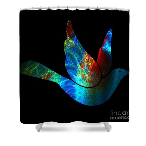 Peace Series #25 Shower Curtain by WBK