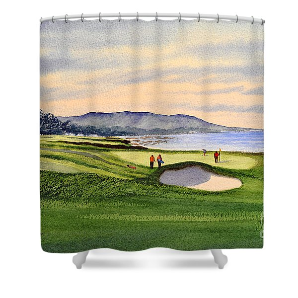 Pebble Beach Golf Course Shower Curtain by Bill Holkham