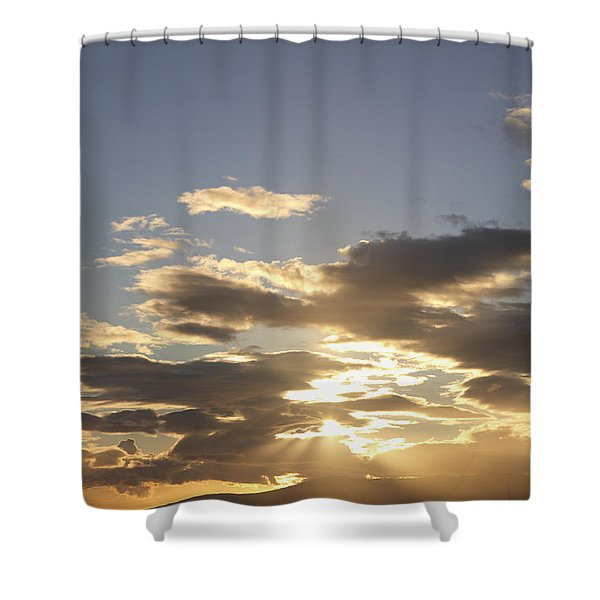 People Silhouette Sunset Shower Curtain by Brandon Tabiolo - Printscapes