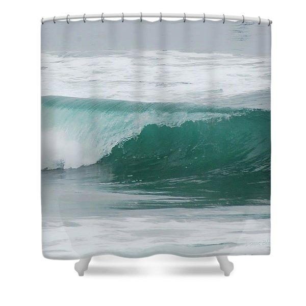 Perfect Wave Shower Curtain by Donna Blackhall