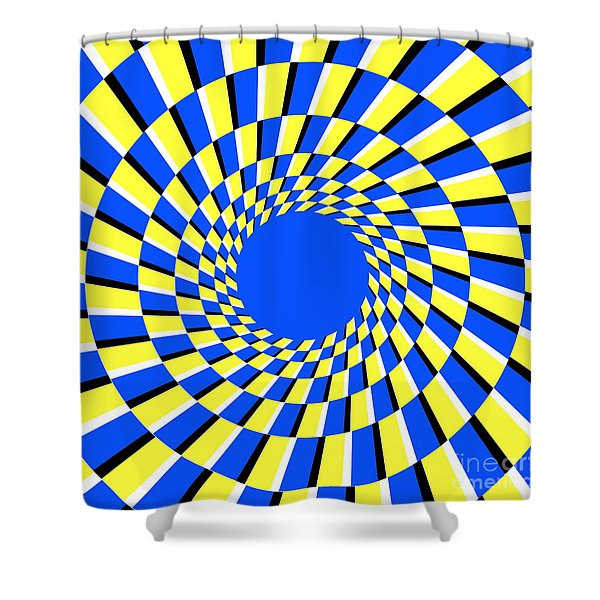 Peripheral Drift Illusion Shower Curtain by SPL and Photo Researchers