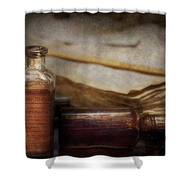Pharmacist - Specific Medicines  Shower Curtain by Mike Savad