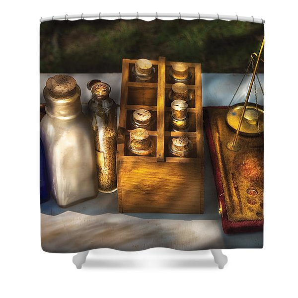 Pharmacist - Field Medicine Shower Curtain by Mike Savad