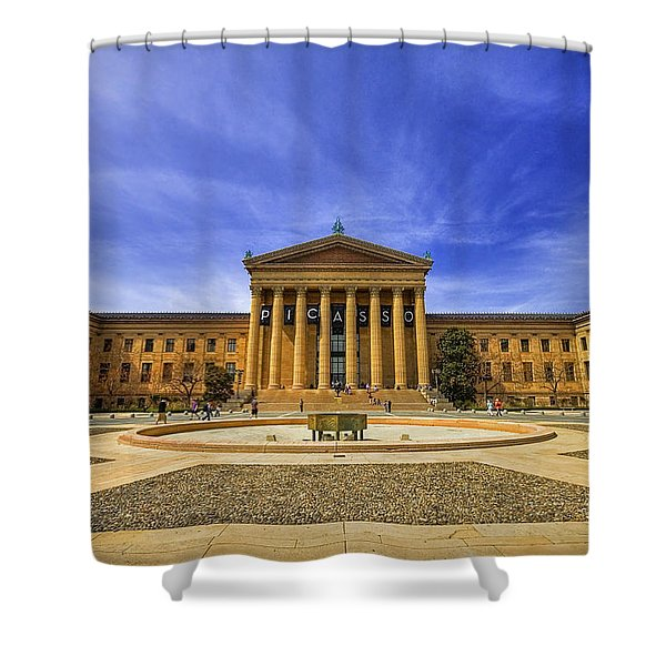 Philadelphia Art Museum Shower Curtain by Evelina Kremsdorf