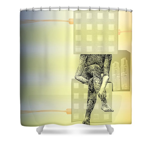philosophy Shower Curtain by Bob Orsillo