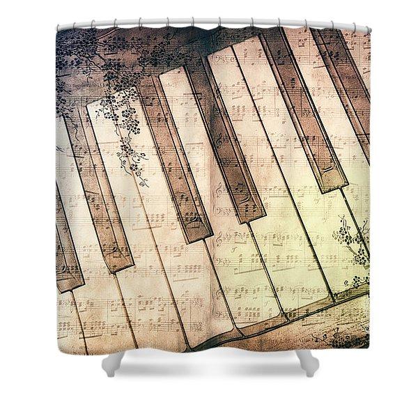 Piano Days Shower Curtain by Jutta Maria Pusl