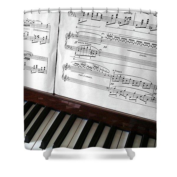 Piano Keys Shower Curtain by Carlos Caetano