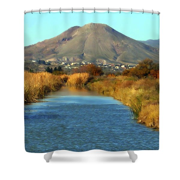 Picacho Peak Shower Curtain by Kurt Van Wagner