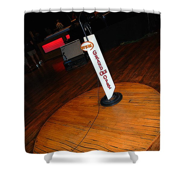 Piece of the original old stage at the Grand Ole Opry in Nashville Shower Curtain by Susanne Van Hulst