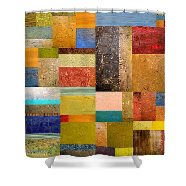 Pieces Project lll Shower Curtain by Michelle Calkins