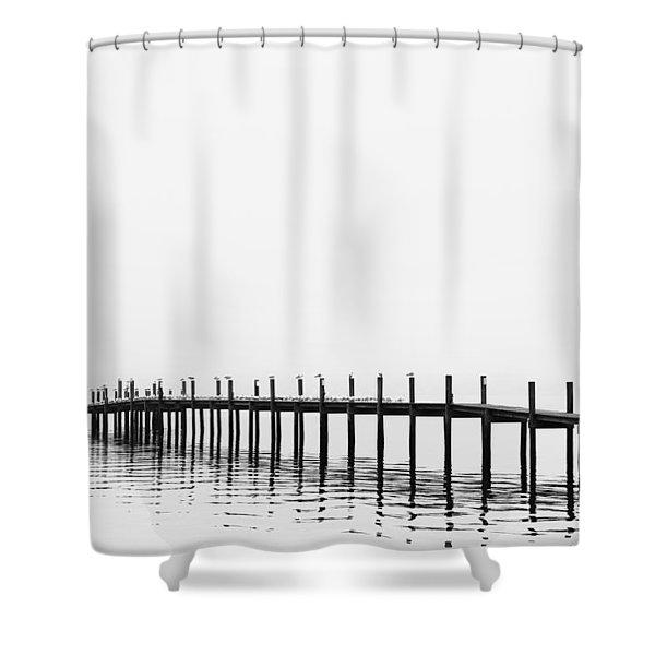 Pier Shower Curtain by Skip Nall
